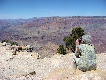 Shooting, Grand Canyon, Old Woman, Elderly, Travel