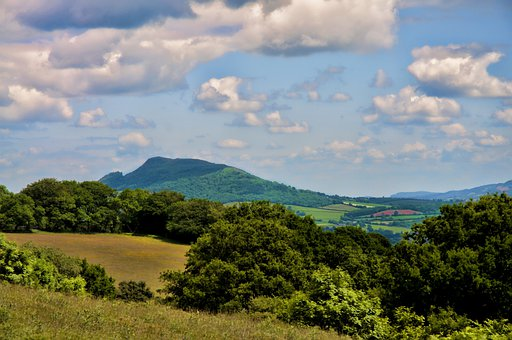 Skirrid Mountain, Hill, Mountain, Sky, Clouds, Outdoors