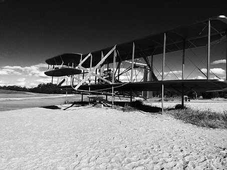 Aircraft, Black And White, Wright Brothers, Historic