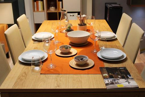 Dining Table, Decoration, Tableware, Covered