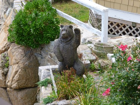 Bear, Lawn Decoration, Statue, Outdoors, Decoration