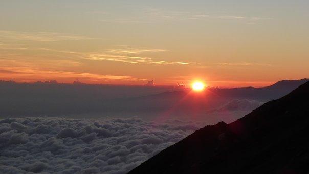 Sunrise, Mountain, Nature, Travel, View, Cloud, Morning