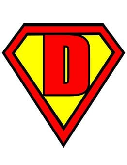 Letter, D, Superman, Style, Red, Yellow, Flags