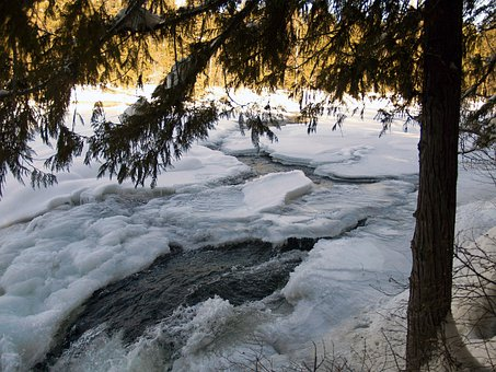 River, Frozen, Ice, Snow, Winter, Nature, Ice Jam, Cold