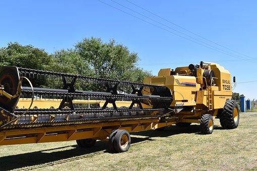 Combine Harvester, Agricultural Tool, Combine Platform