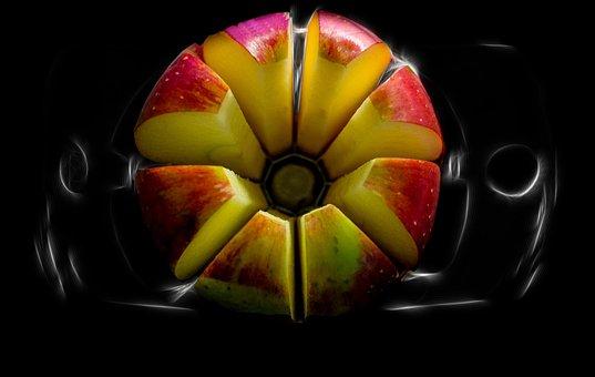 Vitamins, Tabletop, Fraktalius, Detail, Apple, Lighting