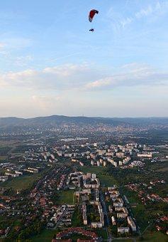 Baranya, Pecs, Garden City, Paragliding, Buildings