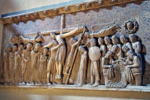 Bas Relief, Crucifixion, Gothic, Duomo Di Parma, Parma