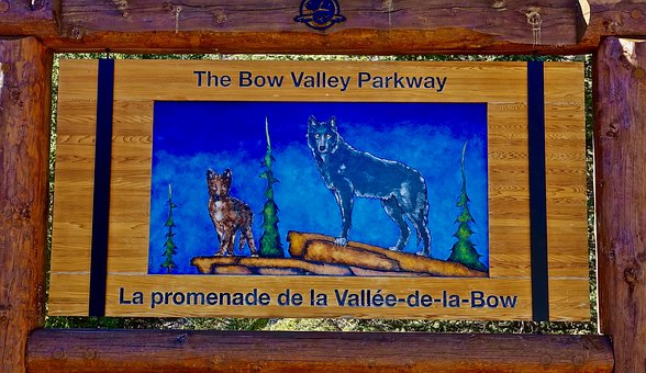 Bow Valley, Canada, Sign, Travel, Famous, Landmark