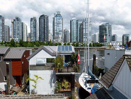 Water Housing, Skyline, Buildings, Water, City