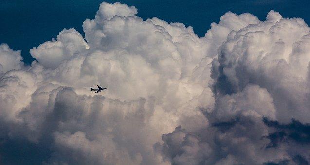 Sky, Plane, Cloud, Airplane, Fly, Flight, Travel