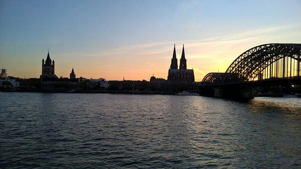 Cologne, Dom, Cologne Cathedral, Hohenzollern Bridge