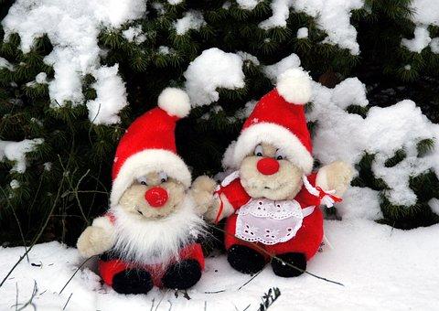 The Elves, Christmas, Snow, Toys, Winter, Pine