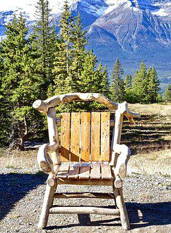 Chair, Rustic, Mountains, Decoration, Wooden
