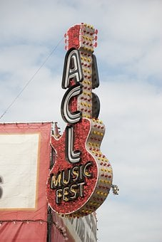 Music, Acl, Austin City, Limits Festival, Sign, Street