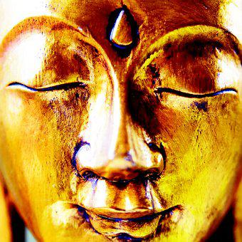 Buddha, Gold, Religion, Buddhism, Gilded, Statue