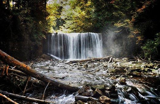 Canada, Ontario, Waterfalls, Landscape, Scenic