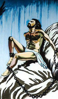 Prometheus, Chained, Man, Rock, Prisoner, Ancient