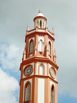 Church, Santos, Illuminated, Religious, Catholic