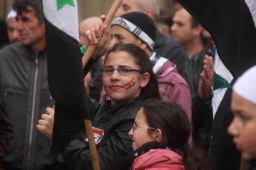Golan Heights, Demonstration, People, Girl, Child