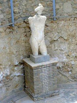 Statue, Sculpture, Fig, Piazza Armerina