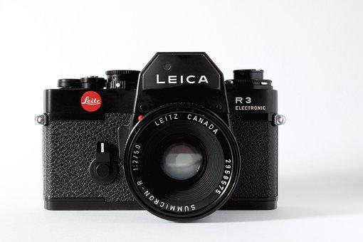 Analog, Camera, Leica, Studio, Product, White, Lens