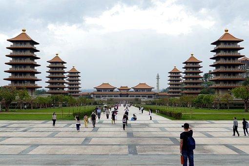 Taiwan, China, Temple, Buddhism, Buddha, Religion, Asia