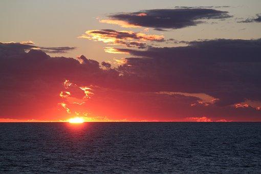 Sunset, Afterglow, Evening Sky, Clouds, Nature, Sky