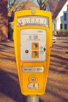 Park, Parking Meter, Old, Deutsche Mark, Metal, Dm