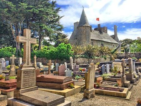 Graveyard, France, Cemetery, Stone, Cross, Europe