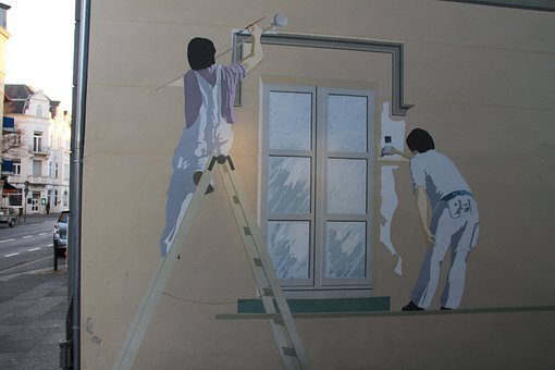 Graffiti, Painter, Window