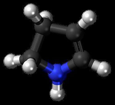 Pyrroline, Nitrogen, Heterocycle, Model, Molecule