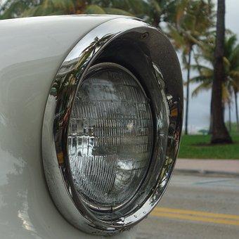 Lighthouse, American, Car, Cuba, Old Cars, Vehicle