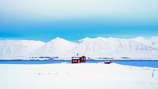Iceland, Panorama, Hut, Cottage, Cabin, Mountains