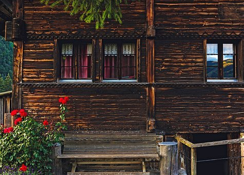 Log Cabin, Switzerland, House, Home, Cottage, Rustic