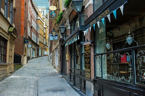 Lovat Lane, London, England, Great Britain, Uk, Shops
