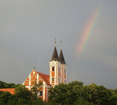 Baranya, Siklós, Máriagyűd, Rainbow, Church, Basilica