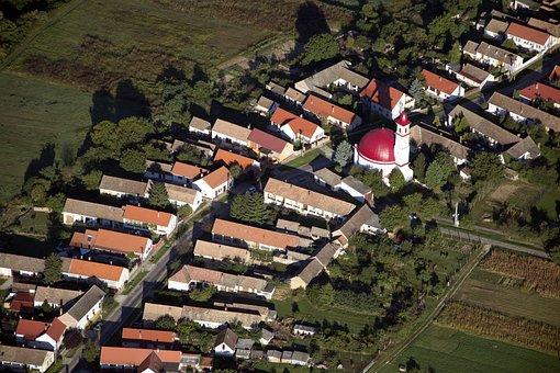 Baranya, Palkonya, Villány, Street, Round Church