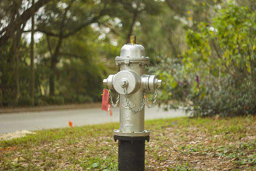 Hydrant, Silver, Bokeh, Fire, Water, Metal, Equipment