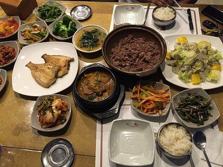 Korean Dinner Meal, Fish, Asian