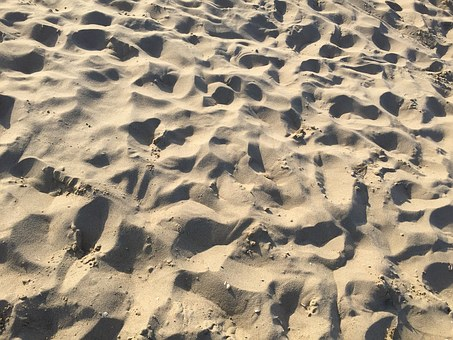 Sand, Beach, Footsteps