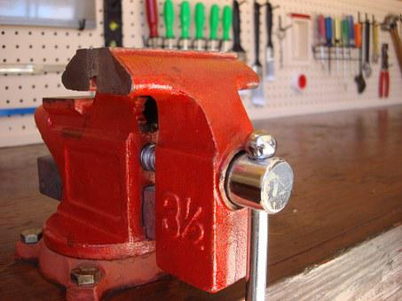 Vice, Workbench, Tools, Hobby, Bench, Garage, Workshop