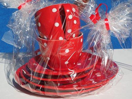 T, Dot Pattern, Gift, Mitbringsel, Birthday Present