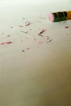 Eraser, Pencil, Paper, Writing, Blank, Writer' Block