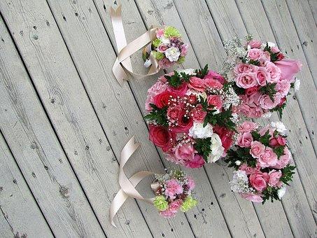 Wedding, Bouquet, Bridal, Marriage, Bridesmaid, Flowers
