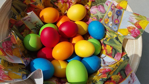 Easter Eggs, Easter, Colorful, Color, Bright