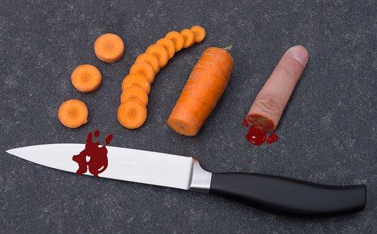 Ouch, Knife, Sharp Knife, Cut, Kitchen Knife, Dangerous