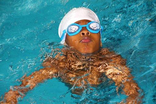 Swimming Course, Bathing Cap, Diving Mask, Swim, Sport