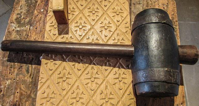 Cyprus, Dherynia, Folklore Museum, Hammer, Wooden