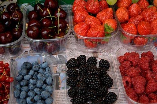 Fruit, Fruit Trays, Fruit Display, Red Fruit